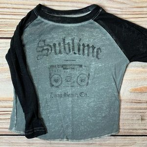 Baby long sleeve sublime tee size 12 month